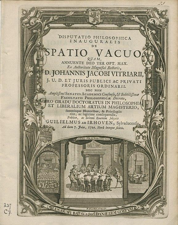 1721 PhD Ceremony at Leiden University