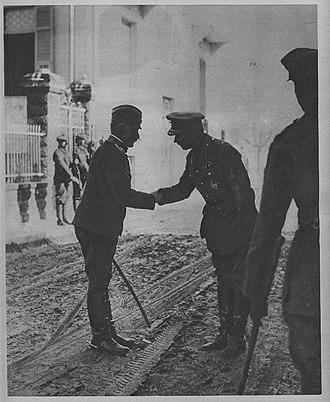 Živojin Mišić - General Mišić and British general George Milne.