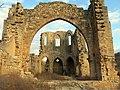 173 Ruïnes del monestir de Vallsanta (Guimerà), façana oest i absis.jpg