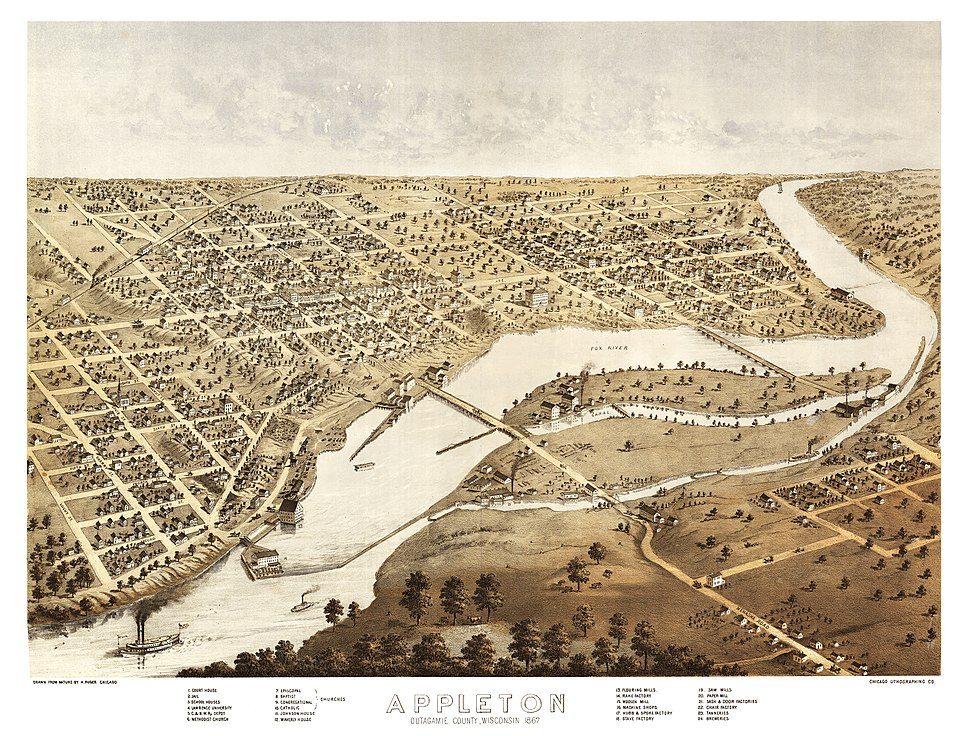 1805-Appleton, Outagamie County, Wisconsin 1867-PRINT