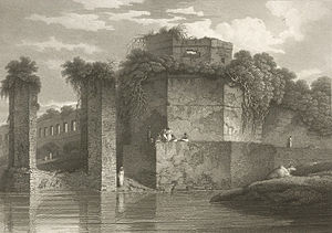 Lalbagh Fort - 1814 painting of the fort by Charles D'Oyly