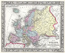 1860 Mitchell Map of Europe - Geographicus - Europe-m-63
