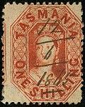 1865 Tasmania 1sh perf13 plume SG90.jpg