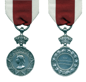 Abyssinian War Medal - Obverse and reverse of the medal