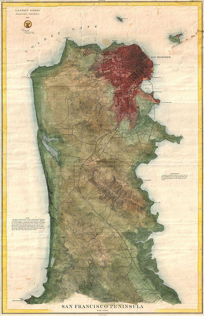 File US Coast Survey Map Of The San Francisco Peninsula - Us map 1869