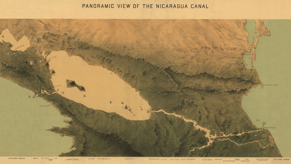 1870 Nicaragua Canal Map Restoration