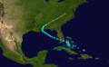 1907 Atlantic tropical storm 2 track.png