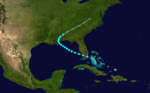 1907 Atlantic tropical storm 2 track.png