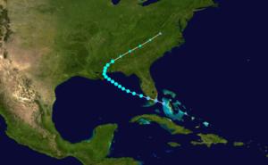 1907 Atlantic hurricane season - Image: 1907 Atlantic tropical storm 2 track