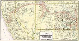 Black Rock Desert - 1914 WPRR map with Gerlach, Ascalon, Trego, Cholona, Ronda, and Sulphur, Nevada