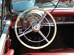 1951 Chrysler conv black va dash