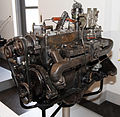 1953 Nissan Model NB engine left.jpg