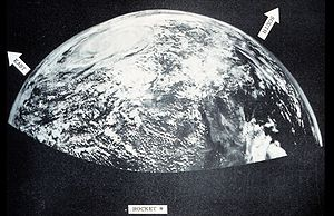 1954 Atlantic hurricane season - Image: 1954 sounding rocket image of a tropical cyclone
