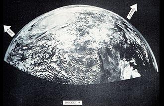 1954 Atlantic hurricane season - Image: 1954 sounding rocket image of a tropical cyclone