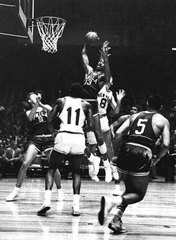 Wilt Chamberlain in 1960, when he averaged 27 rebounds per game. 1960 New York Knicks vs. Philadelphia Warriors.jpeg
