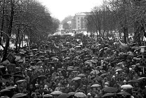 Šiauliai - Šiauliai during January 13, 1991