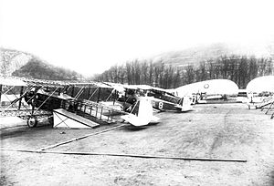 III Corps Observation Group - 1st Aero Squadron Salmson 2A2 aircraft on display at the Coblenz Air Show, 23–27 April 1919