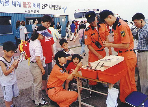 2000년대 초반 서울소방 소방공무원(소방관) 활동 사진 불꽃축제 현장