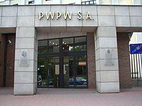 2007-07-20 Polska Wytwórnia Papierów Wartościowych w Warszawie, wejście.jpg