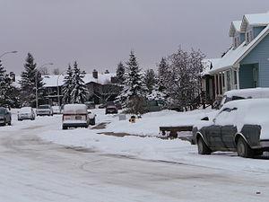 Summerlea, Edmonton - Residential sidestreet in Summerlea