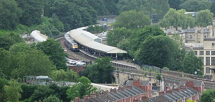 Bath Spa railway station 2008 at Bath Spa station - view from Widecombe.jpg