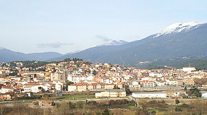 Sant Celoni - View of Sant Celoni with the Montseny Massif in the background