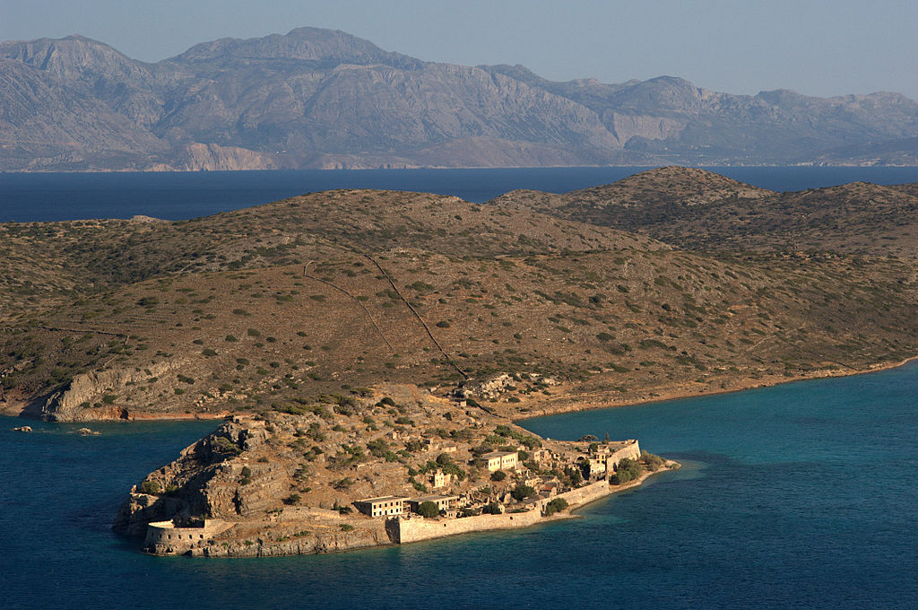 Spinalonga (Kalydon) island from the mountain