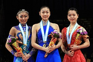 2009–10 Grand Prix of Figure Skating Final - The ladies' podium for the 2009–10 Grand Prix Final.