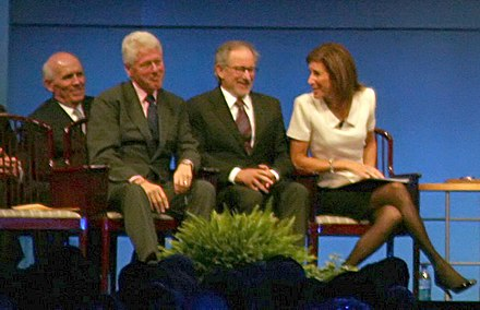 Former President Clinton with Spielberg as he accepts the 2009 Liberty Award in Philadelphia 2009libertymedal.JPG