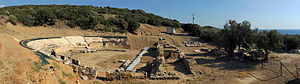 20100913 Ancient Theater Marwneia Rhodope Greece panoramic 1.jpg