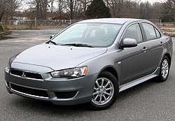 2012 Mitsubishi Lancer SE sedan (US)