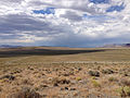 2014-07-18 16 30 25 View north along the Lunar Crater Back Country Byway from the north lip of the Lunar Crater, Nevada.JPG