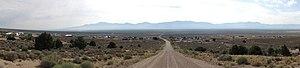 Cherry Creek, Nevada - Cherry Creek viewed from the east