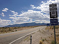 2014-08-09 14 11 25 First reassurance sign along southbound Nevada State Route 487 (Baker Road) in White Pine County, Nevada.JPG