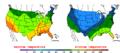 2015-10-25 Color Max-min Temperature Map NOAA.png
