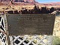 2016-03-20 14 22 43 Plaque dedicating the original Navajo Bridge (former U.S. Route 89A) in Marble Canyon, Arizona.jpg