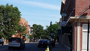 Jeffersonville, Indiana - Spring St is the main shopping area in downtown