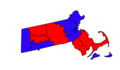 2016 Election Results by county in Massachusetts.png