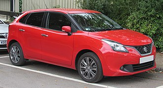 Automotive industry in India - The Suzuki Baleno is produced and exported to international markets from India.