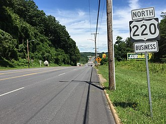 Special routes of U.S. Route 220 - US 220 Bus in Martinsville