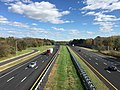 2017-10-30 13 27 22 View north along Interstate 95 from the overpass for New Jersey State Route 31 (Pennington Road) in Hopewell Township, Mercer County, New Jersey.jpg