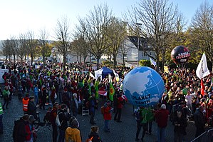 2017 United Nations Climate Change Conference - Demonstration in Bonn on 4 November 2017.