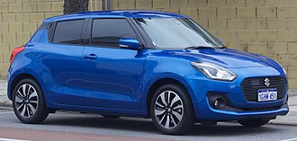 Suzuki Swift - Image: 2017 Suzuki Swift (AZ) GLX Turbo 5 door hatchback (2017 07 15) 01