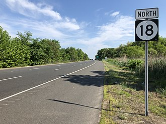 Ocean Township, Monmouth County, New Jersey - Route 18 in Ocean Township