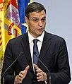 2018-06-04, 25 aniversario de las relaciones diplomáticas entre España y Andorra, Pedro Sánchez, Pool Moncloa-César P. Sendra (cropped).jpg