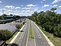 2019-08-25 11 18 27 View south along U.S. Route 1 (Southwestern Boulevard) from the overpass for Francis Avenue in Arbutus, Baltimore County, Maryland.jpg