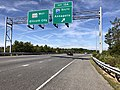 2019-09-19 10 50 58 View west along Maryland State Route 100 (Paul T. Pitcher Memorial Highway) at Exit 13A (Interstate 97 SOUTH, Annapolis) in Severn, Anne Arundel County, Maryland.jpg
