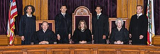 Supreme Court of California - Image: 2105 Supreme Court Group Photo