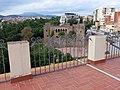 236 Terrat de la casa Coll i Bacardí (Terrassa), al fons el castell de Vallparadís.JPG