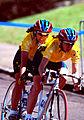 261000 - Cycling road Lynette Nixon Lyn Lepore action 3 - 3b - 2000 Sydney race photo.jpg